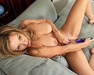 American housewife getting wet and wild