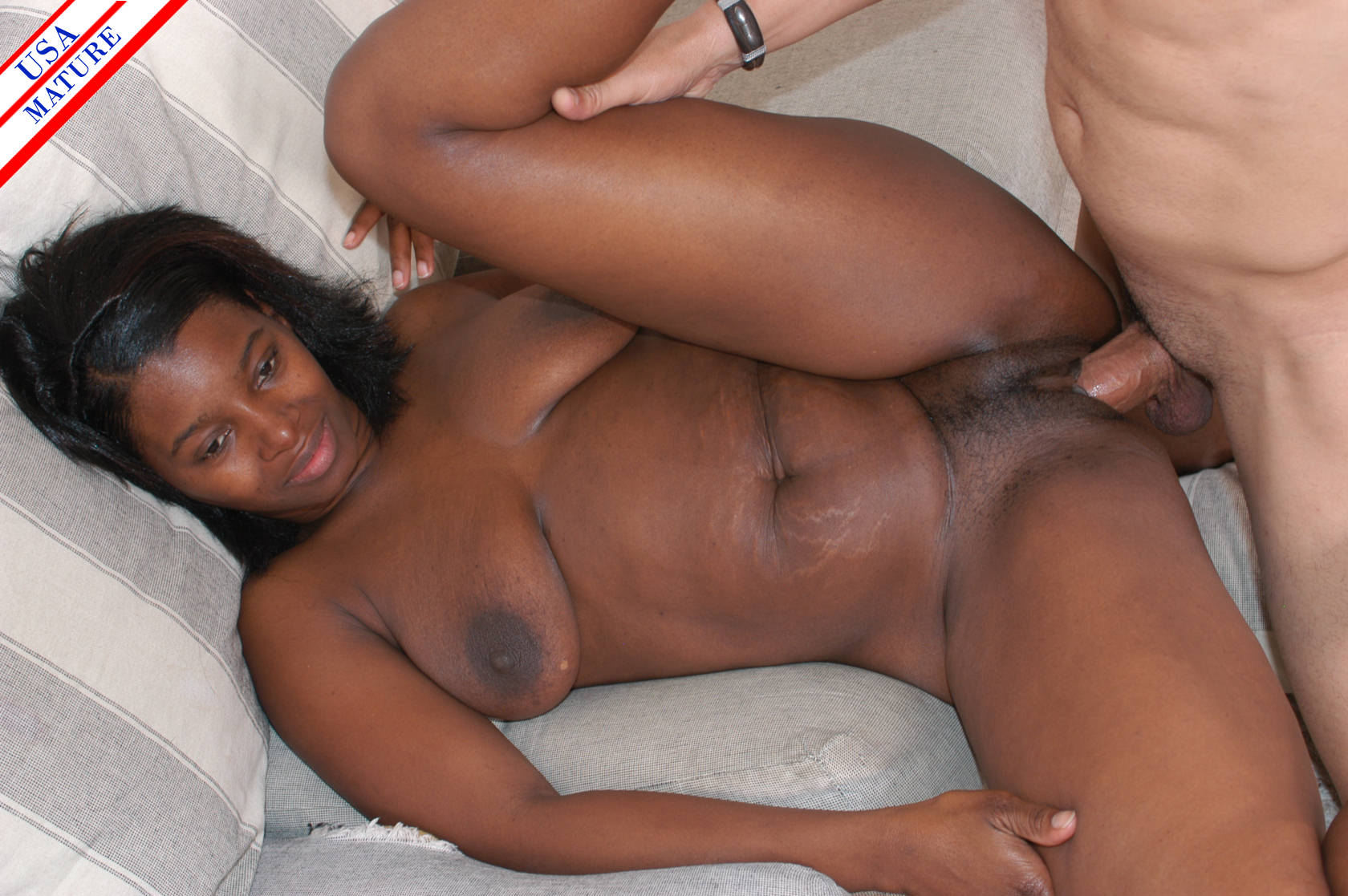 Black bbw and white dick