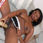 Ebony housewife craving a hard white cock