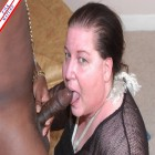 Black cock loving chubby mature slut