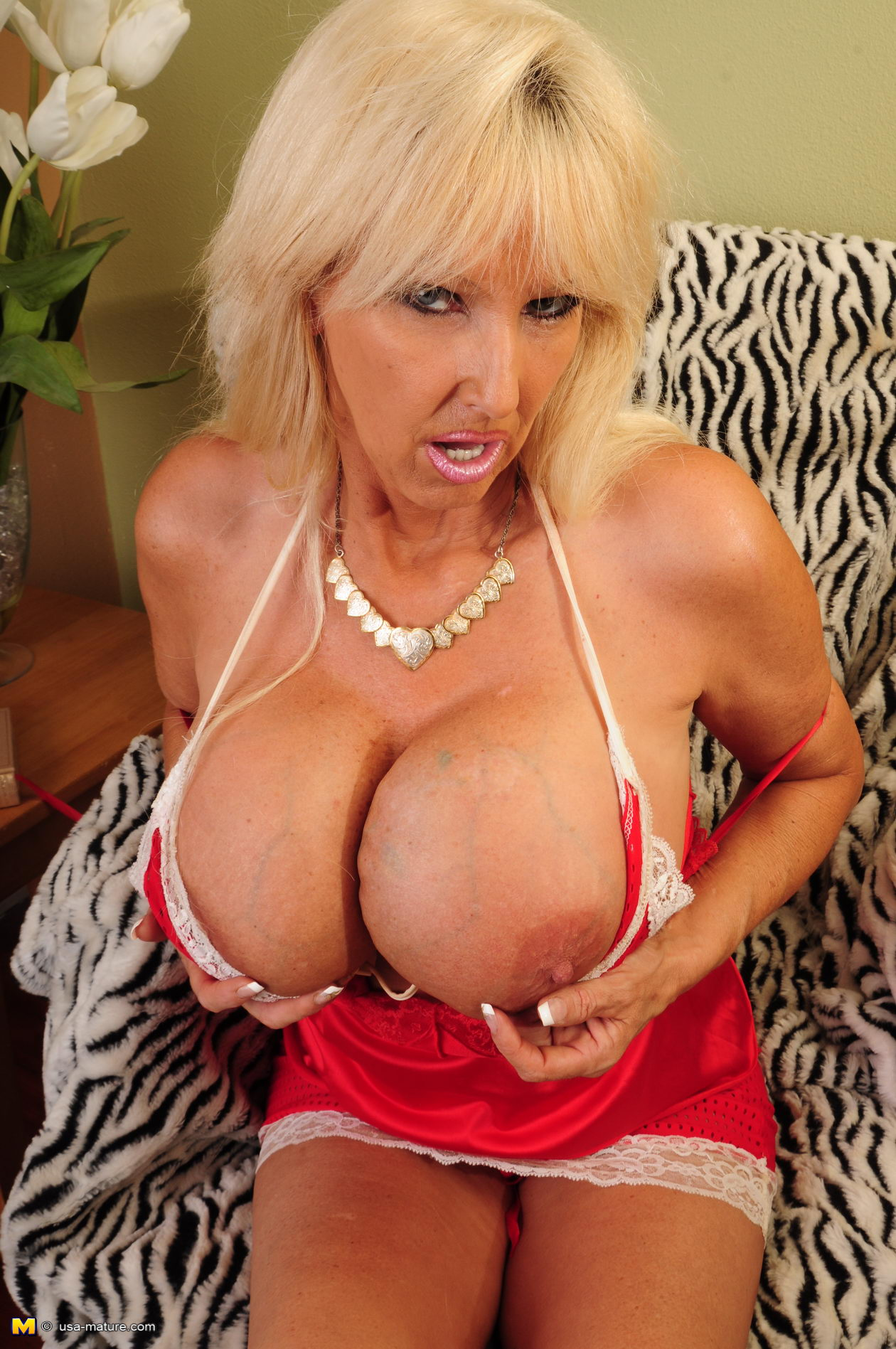 Vintage big tit mature blondes