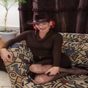 Naughty American mature lady playing with herself