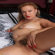 Hairy American housewife feeling  very dirty