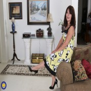 Naughty American housewife playing with herself
