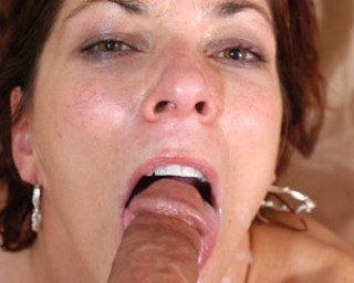 Feed mama cock and cum, and she goes all the way