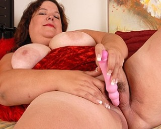 Mature Shy loves to play with her toy