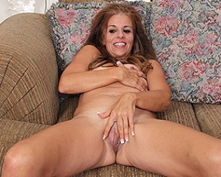 Horny American housewife playing with her wet and juicy pussy