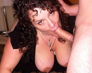 Big Joyce loves sucking cock
