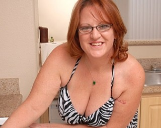 Big Brandy loves to play with her big breasts